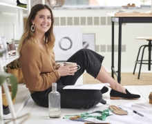 As a project development manager for American footwear company Caleres, Appalachian alumna Andee Burton '12 designs shoes for Dr. Scholl's, many using materials made from recycled plastic. Photo submitted