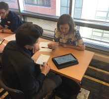 Student Receives feedback during Portfolio Review