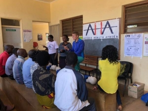 Emma Wingerd's poster is used to teach students in Malawi during summer 2018. Photo submitted